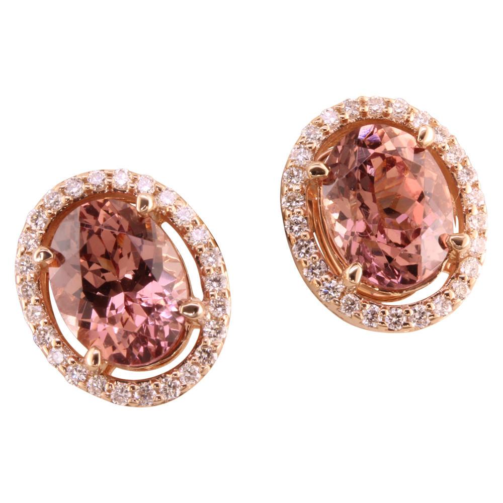 Lotus Garnet Diamond Earrings