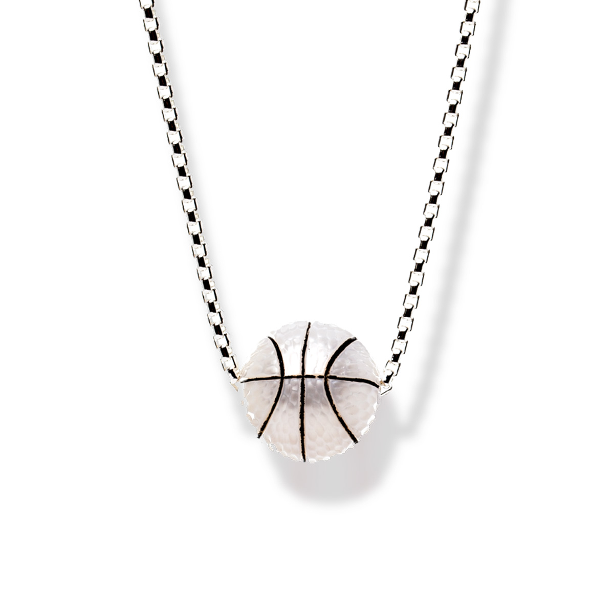 Hand carved pearl trophy basketball pendant shopinde hand carved pearl trophy basketball pendant mozeypictures Images