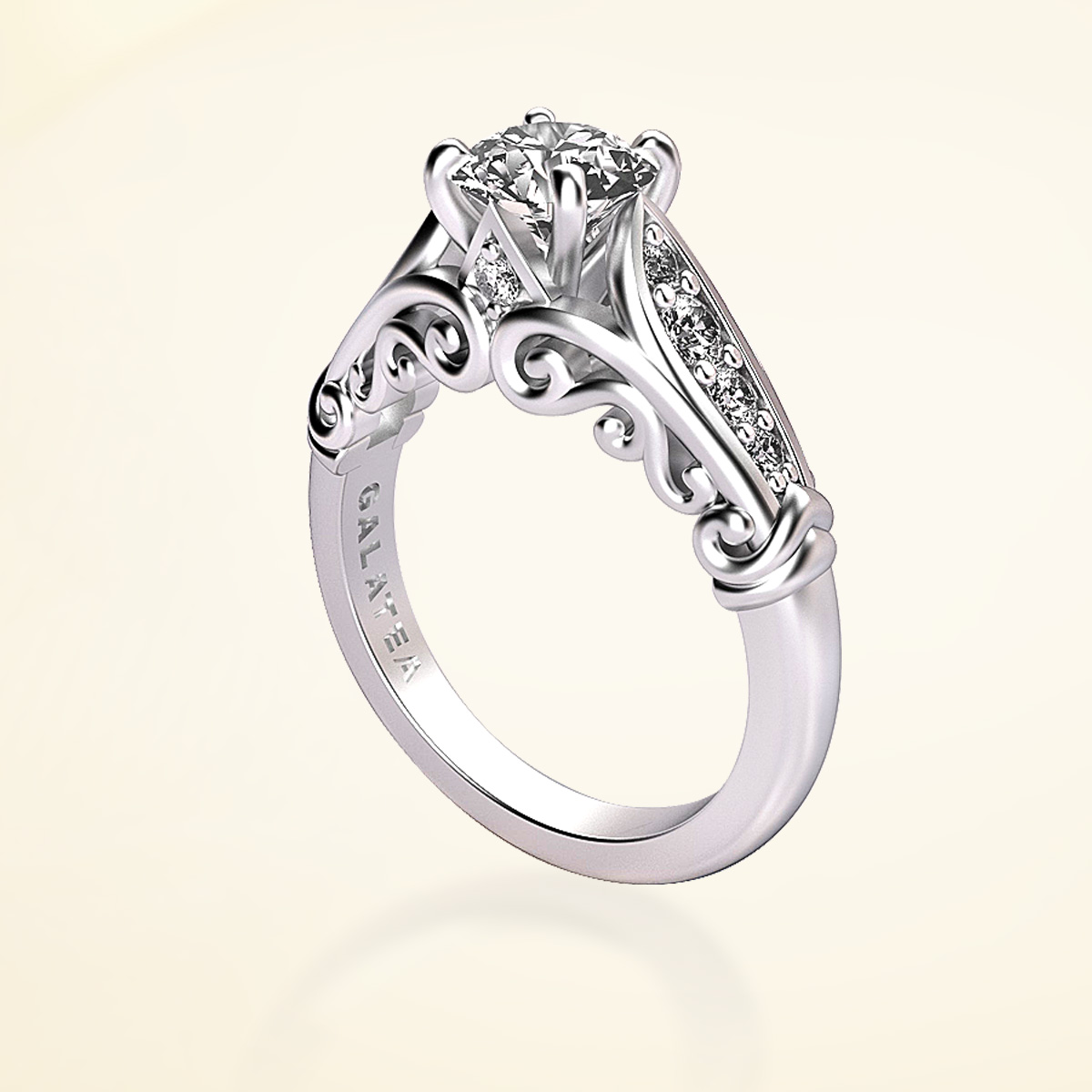 princess collection engagement ring semi mount