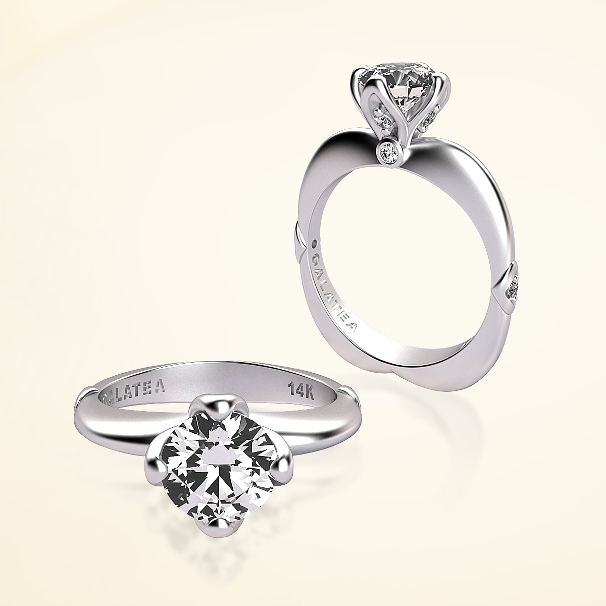 Princess Collection Diamond Engagement Ring-Semi-Mount